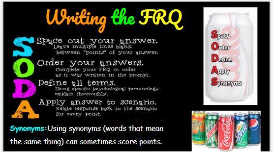 "Writing the FRQ ""SODA""   goodpsychology"